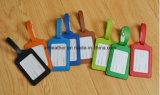 Multicolor Viajes de cuero de imitación para equipaje Etiqueta de ID.