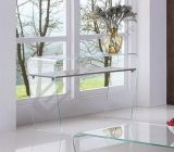 Chou Heung Veneer Solid Wood와 가진 장방형 Clear Glass Coffee Table