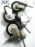 Roulette pivotante TPR robuste 4 po avec frein total