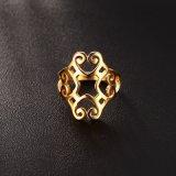 Holle Ringen van de Ring van de persoonlijkheid de Titanium Geplateerde 18K Gouden