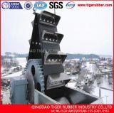 Elevador de cucharón de cintas transportadoras de goma para la industria del cemento