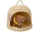 Hot Sale Hand-Weaving PE Rattan Doghouse Pet Waterloo