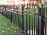 Используется 3000*1700 мм безопасности ограждения из кованого железа черного цвета с технологией порошковой окраски конструкций/декоративной оцинкованной стали сад или бассейн ограждения