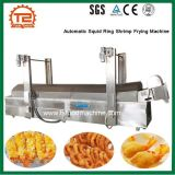 Friteuse de nourriture/crevette automatique de boucle de calmar faisant frire la machine