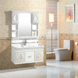 Meubles européens modernes blancs de salle de bains de PVC