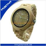 Montre du bois de montre de poignet en bois en gros normal avec du charme de mode avec le logo personnalisé