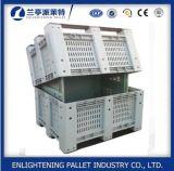 China exalou a caixa de pálete plástica do engranzamento para a fruta e verdura