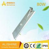 indicatore luminoso di via solare esterno Integrated del sensore di movimento 80W LED