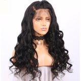 Большой кривой 150% плотность кружева передней человеческого волоса парики