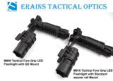 Grip Erains Tac Óptica táctico 250 lúmenes Dura aluminio de la linterna con la lámpara de lectura