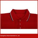 Qualitäts-Baumwollrote Polo-T-Shirts der nach Maß Männer (P171)