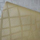 Роскошная выбитая кожа PVC для бумаги стены гостиницы украшения стены