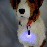 Dog Cat Pet Aluminum Safety Flash LED Light Lamp Collar Tag com bateria