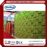 Panneau de mur acoustique matériel de fibre de polyester 3D de décoration insonorisée chaude de vente