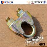 Abrazadera maleable del apretón de la cuerda de alambre DIN1142 del cinc amarillo