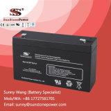 Batería de reserva del AGM de la batería de almacenaje de la potencia 6V 9ah para el sistema de seguridad