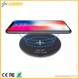 Элегантный пользовательский бамбук сверхтонкий быстрое беспроводное зарядное устройство для iPhone8/X и смартфоны