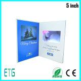 5 pulgadas LCD, la publicidad de vídeo de tarjeta de felicitación de vídeo