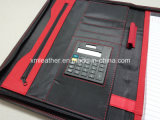 Affaires Leather Cover Pocket File Folders avec Zip Closure