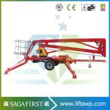 elevatore d'articolazione trainabile mobile di manutenzione della lampada di via di 10m 12m
