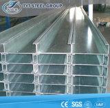C Section Structional à paroi fine chaîne en acier et de cadrage pour soutenir le travail