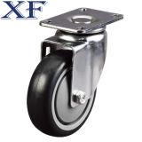 4 Zoll rotes PU-Schwenker-Fußrollen-Rad für industriellen Verbrauch