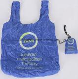 Bon marché la publicité du sac se pliant de polyester pour des achats
