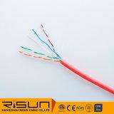 UTP Cat5e Cable LAN con revestimiento de PVC flexible