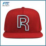 3D de alta calidad carta de bordado Snapback Mayorista de sombrero de ala corta