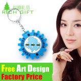 Подарка сувенира OEM Keyring PVC оптового отражательного изготовленный на заказ