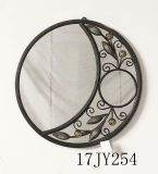 Высеканное рукой зеркало окна металла акцента сбор винограда