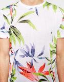 T-shirt d'impression de la sublimation des hommes faits sur commande plein