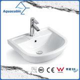 Da mão cerâmica da bacia do gabinete do banheiro dissipador de lavagem Semi-Recessed (ACB8545)