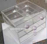 Caixas de armazenamento acrílicas desobstruídas da composição