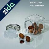 Бутылка свободно еды ясности хранения еды пустой пластичная для печенья/конфеты/арахиса с крышкой