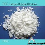 Het Dihydraat van het Chloride van het Calcium van 74% voor Dessicant (Vlok & Poeder)