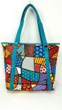 Bolsas de couro coloridas dos sacos da senhora Tote do plutônio da forma