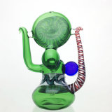 Tubo de cristal coloreado cera de la mano del tabaco del LENGUADO de los tubos que fuman