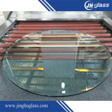 3-19mm Plat / Bent Acid Etch Tempered / Toughened Glass for Window / Door / Building / Furniture