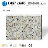 Brames directes de pierre de surface de quartz de couleur de granit d'usine bon marché