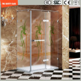 3-19mm Silkscreen-Druck/saure Ätzung/bereiftes/Muster Safetytempered Glas für Haus, Hotel-Badezimmer/Dusche/Bildschirm mit SGCC/Ce&CCC&ISO Bescheinigung