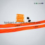 Pulsera barata tejida especializada del precio del Wristband de la tela RFID para el festival