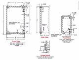 NEMA het Type 12 IP54 14 het Staal van de Maat met lanceert Bijlagen de Dekking In entrepot van de Bedrading van de Nagel van de Schroef Binnen Gebruikte Industriële Elektro