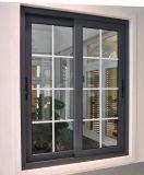 Ventana de desplazamiento de aluminio de la venta 2014 de la parrilla del diseño de cristal caliente de la ventana