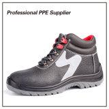 Ботинок минируя безопасности пальца ноги высокого отрезока стальной