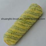 Da base verde do amarelo da listra da pilha 18mm rolo de pintura americano do estilo com núcleo de 38mm PP
