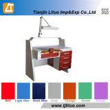 Muebles dentales del laboratorio, sitio de trabajo, vector de trabajo del técnico dental