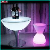 Mobilia del LED/tavola rotonda illuminata della fabbrica della mobilia con di base metallica
