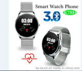Bluetooth Smart Watch Teléfono con detección de frecuencia cardíaca