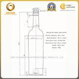 Garrafa De Vidro De Vinho De Alta Comprimento 750ml Em Verde Antigo Para Vinho De Alta Qualidade (585)